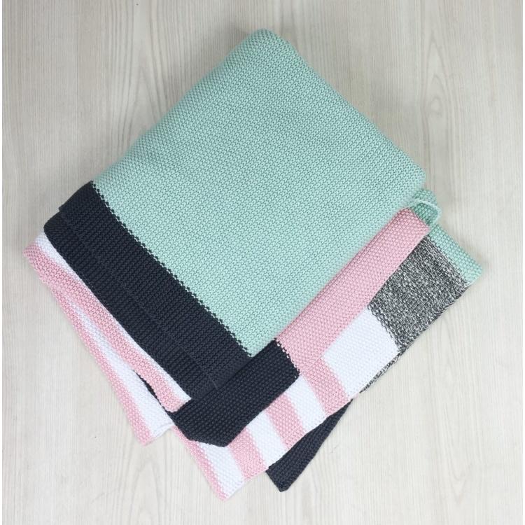 Pink & Aqua Stripe Throw