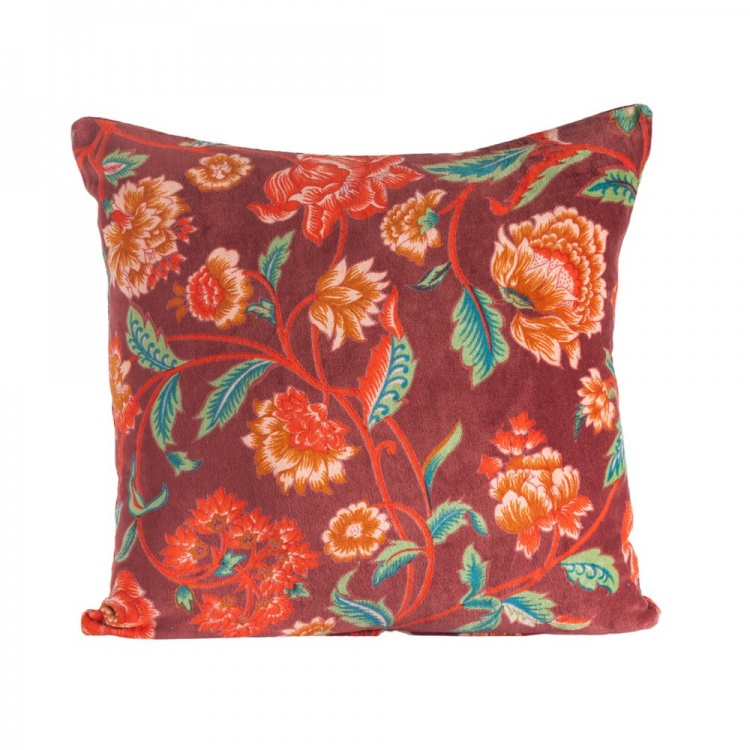Red Lily Velvet Cushion