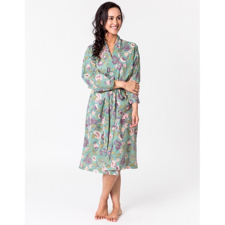 Aqua Lily Kimono