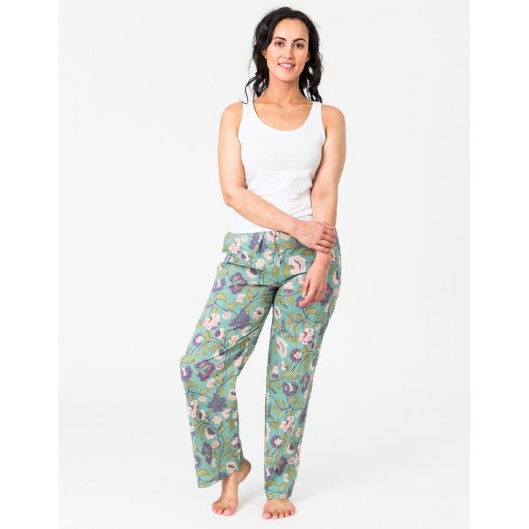 Aqua Lily lounge Pants