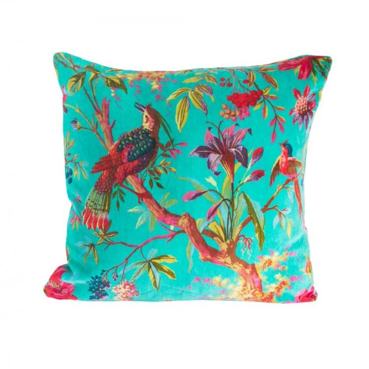 Aqua Paradise Velvet Cushion