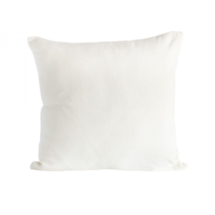 White velvet/linen Cushion