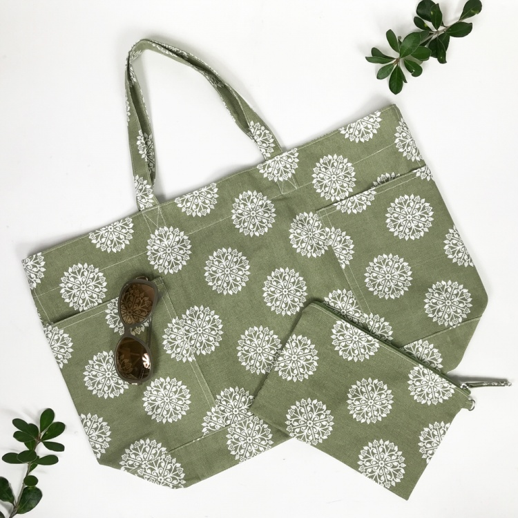 Green Persia Tote Bag