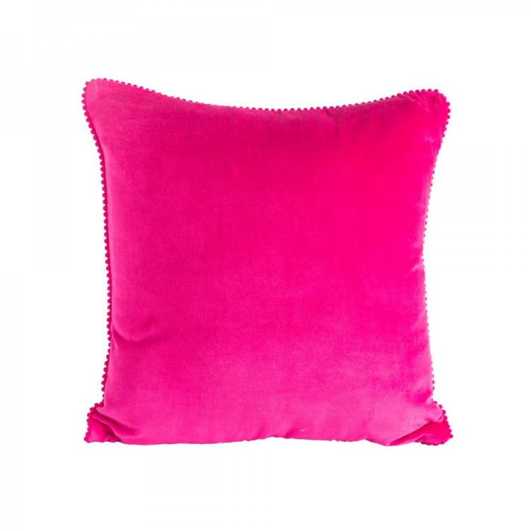 Hot Pink Velvet Cushion