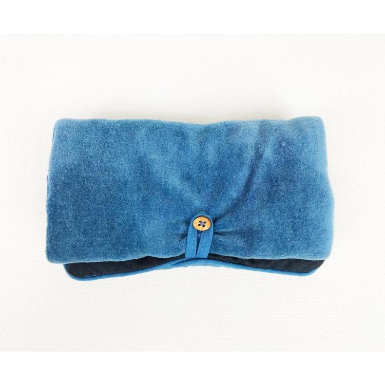 Blue Velvet Jewellery Bag