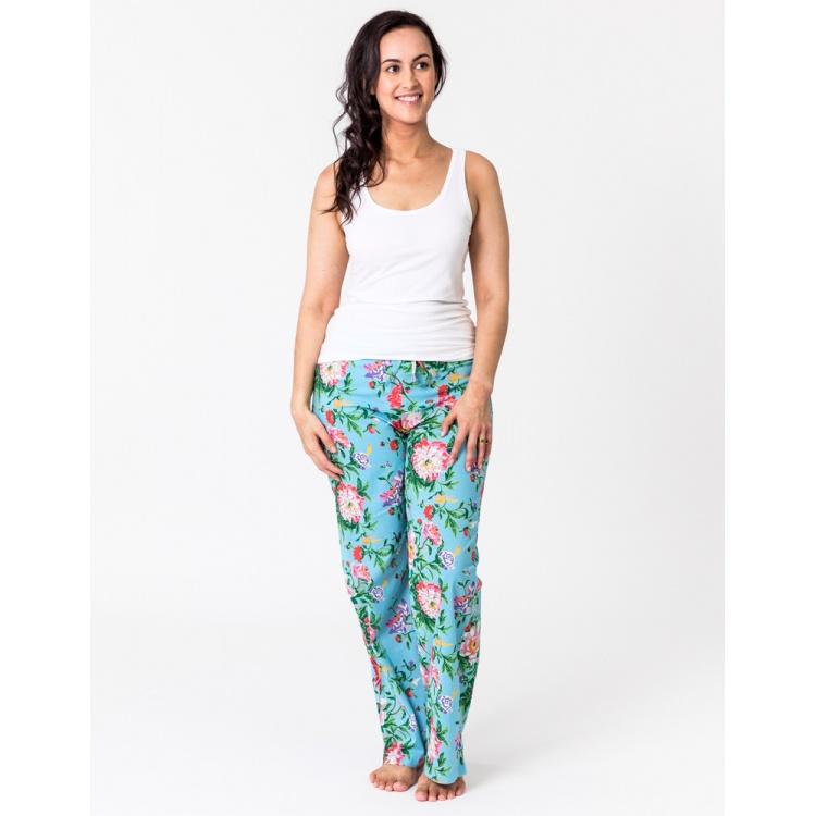 Sky Blue Bloom Lounge Pants