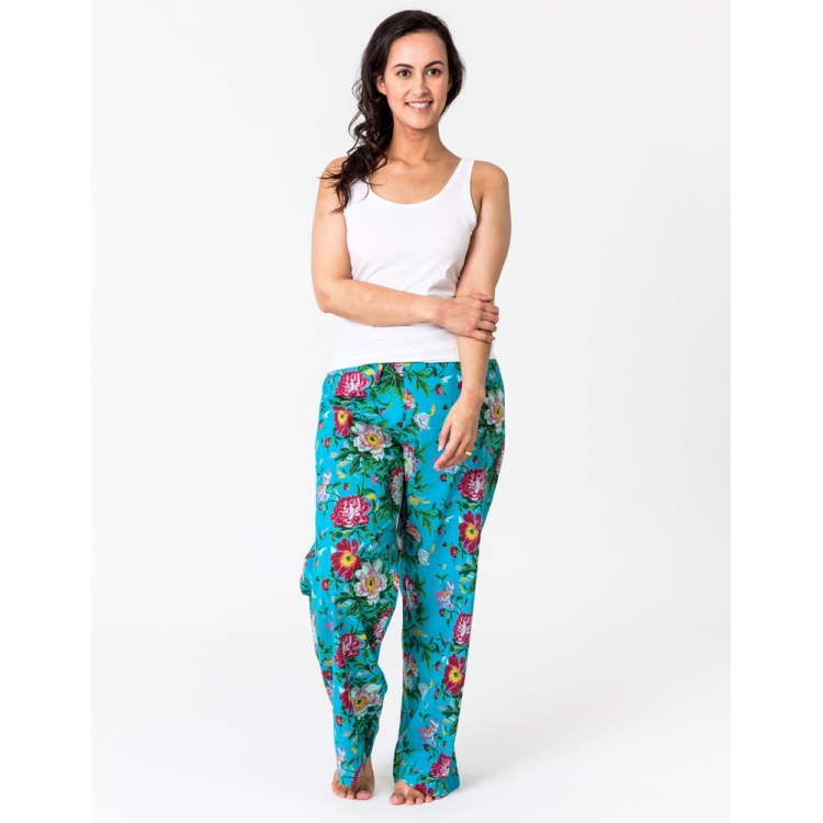 Turquoise Bloom Lounge Pants