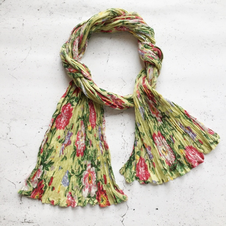 Lime Floral scarf