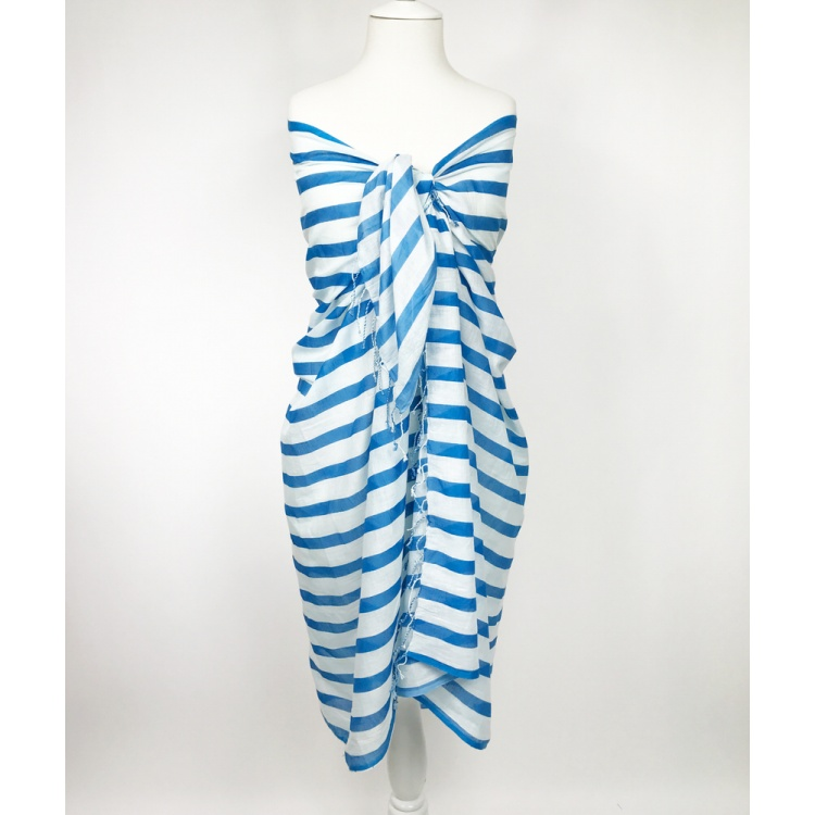 Niagara Blue Striped Sarong