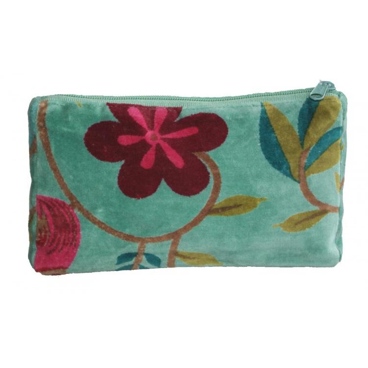 Aqua Songbird Cosmetic Bag