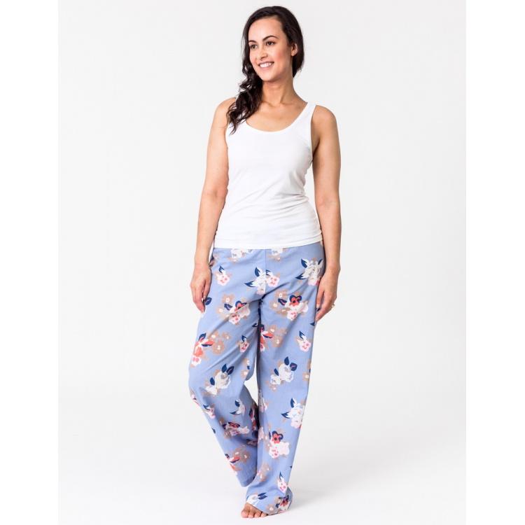 Blue Vintage Floral Lounge Pants