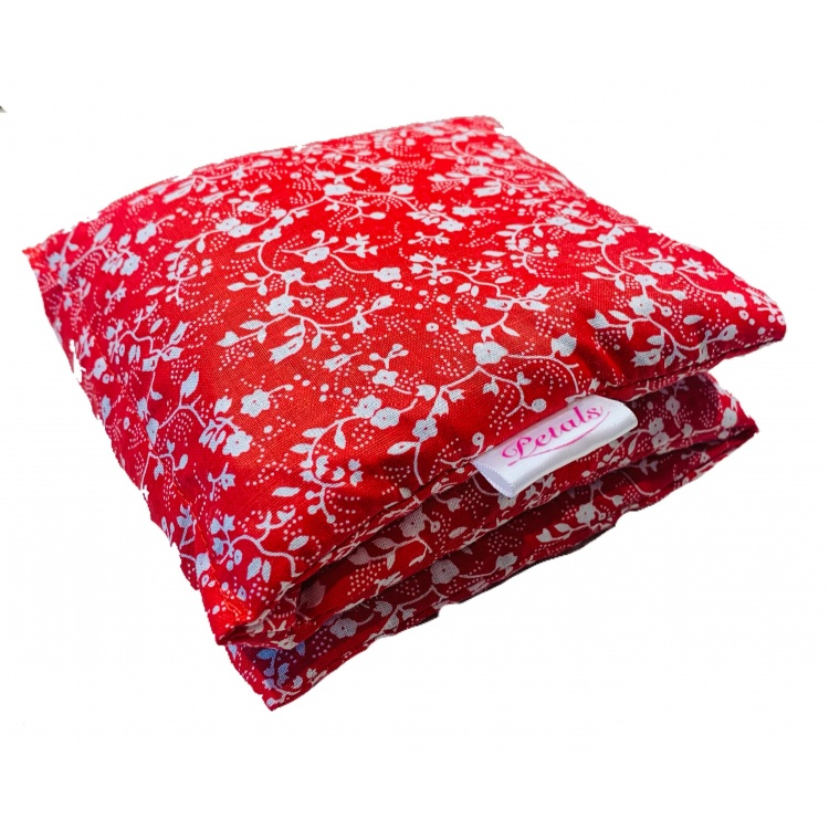 Floral Red Wheat Bag